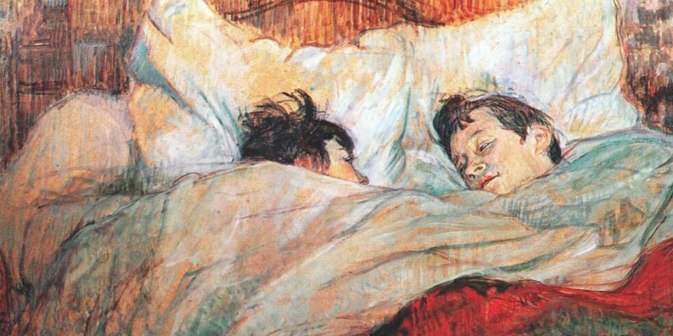 Sleepfulness, The Art of Sleeping. The Sleep Meditation App. Henri de Toulouse-Lautrec (1864-1901) The Bed (1892) Musée d'Orsay (Paris)